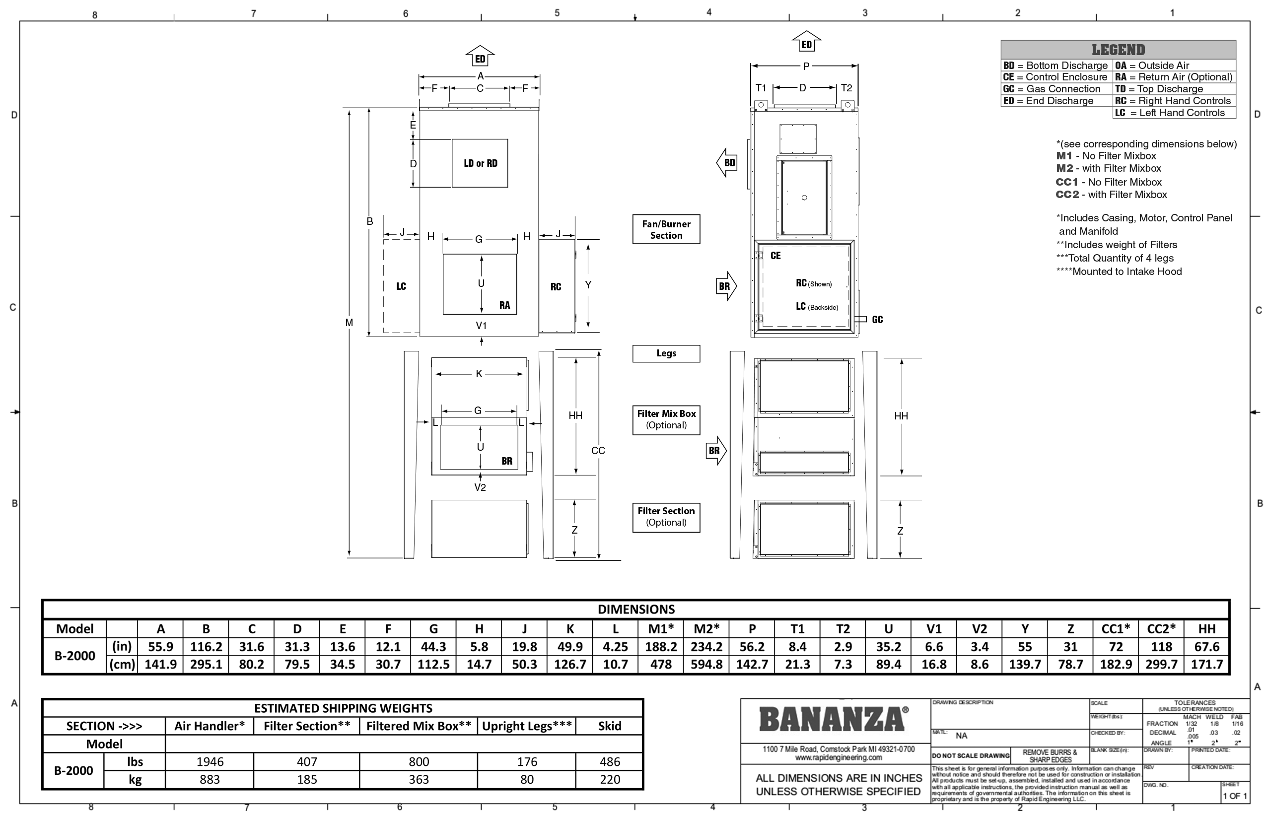 Direct fired submittal drawings from bananza ba20vs ccuart Image collections