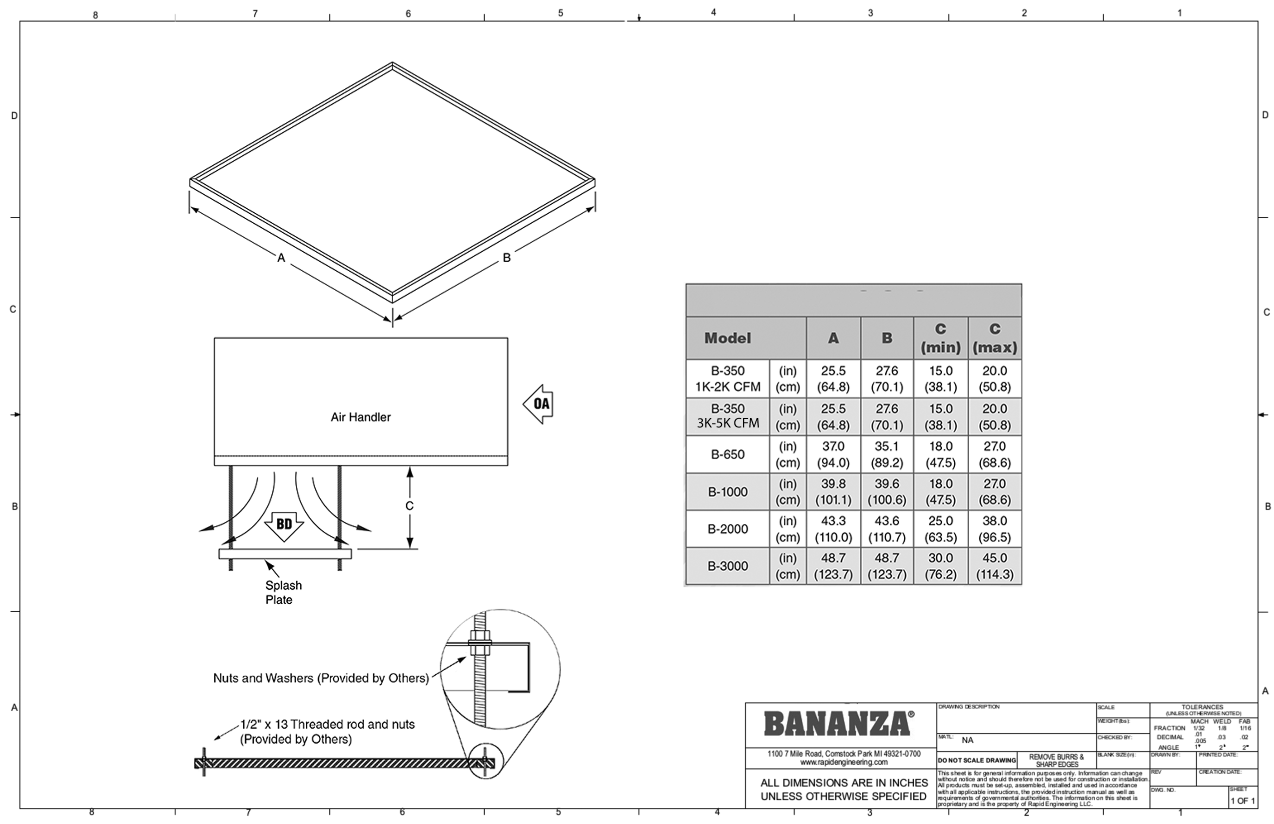 Direct Fired Submittal Drawings From Bananza Basic Electrical Diagram Plan Solutions Load Charts