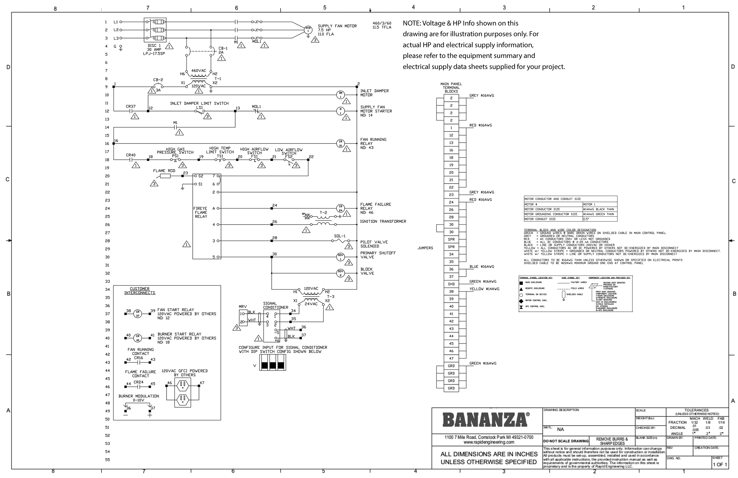 Direct Fired Submittal Drawings From Bananza Prs Wiring Schematic Manifold Diagrams